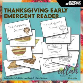 Thanksgiving Early Emergent Reader - BUNDLE