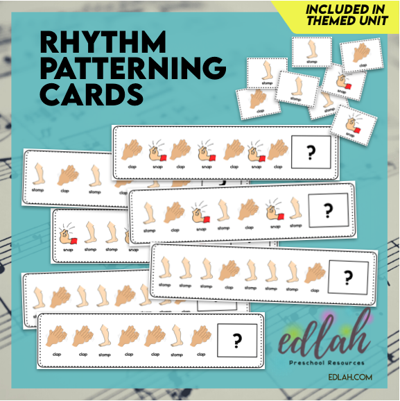 Rhythm Patterning Cards - Full Color Version