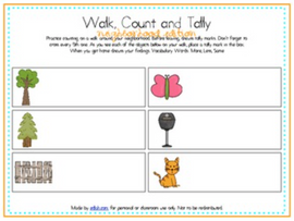 Walk, Count and Tally-Neighborhood Edition