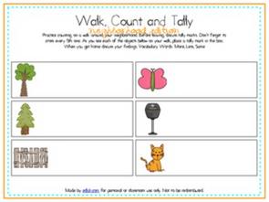 Walk, Count and Tally-Neighborhood Edition
