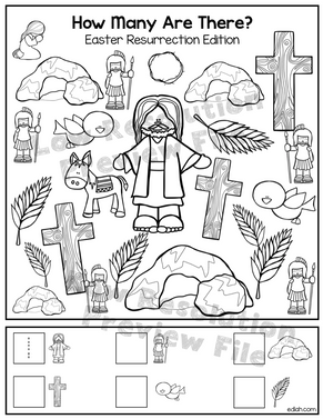 "Easter Resurrection ""How Many Are There"" Activity Sheet"