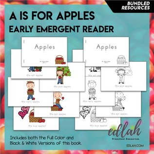 A is for Apples Early Emergent Reader - BUNDLE