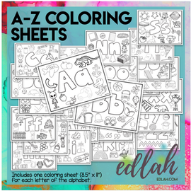 A-Z Alphabet Coloring Pages