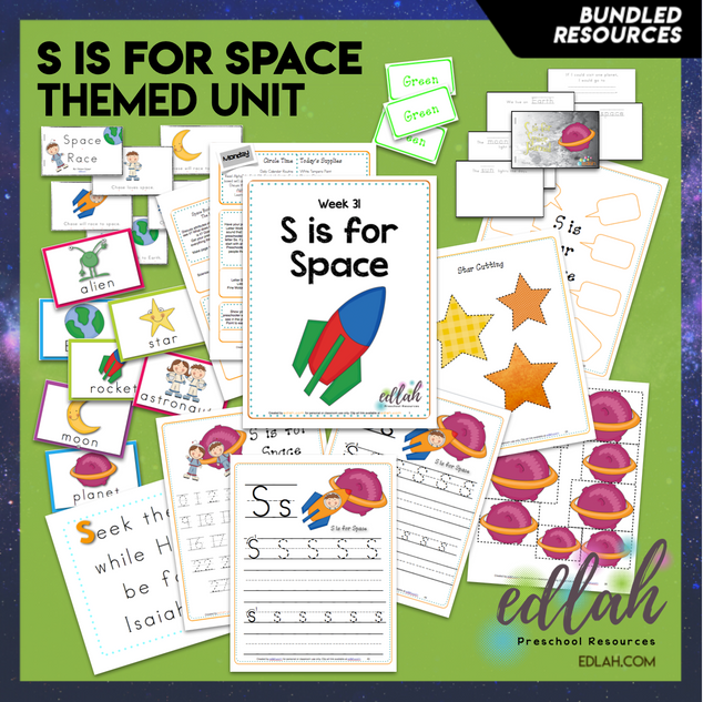 S is for Space Themed Unit-Preschool Lesson Plans