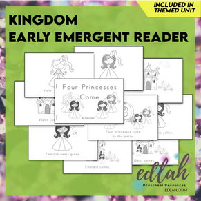 Kings and Queens Early Emergent Reader - Black and White Version