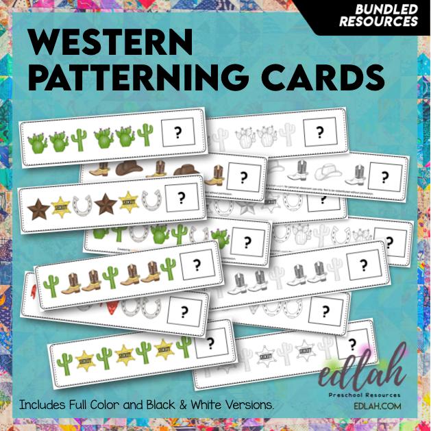 Western Patterning Cards - BUNDLE