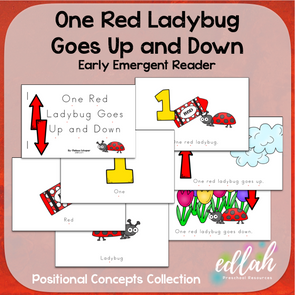 One Red Ladybug Early Emergent Reader (Up & Down) - Full Color Version