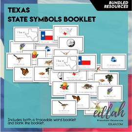 Texas State Symbol Booklet BUNDLE