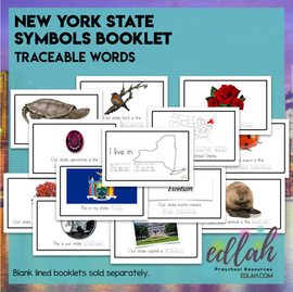 New York State Symbols Booklet - Traceable Words