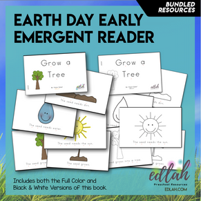 Earth Day Early Emergent Reader BUNDLE -Both Full Color and Black & White