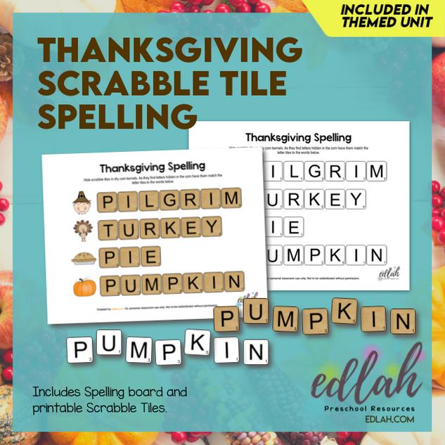 Thanksgiving Letter Tile Game