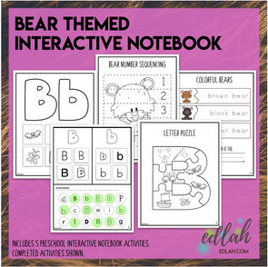 B is for Bears - Interactive Notebook