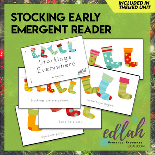 Stockings/Christmas Early Emergent Reader - Full Color Version