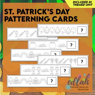 St. Patrick's Day Patterning Cards Set - Black & White Version