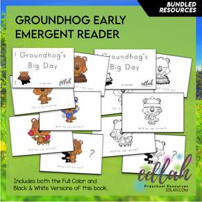 G is for Groundhog Early Emergent Reader - BUNDLE
