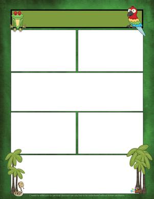 Rainforest/Jungle Newsletter for Word_Generation 1