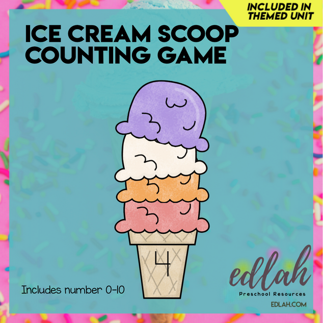 Ice Cream Scoop Counting-Summer Fun - Full Color Version