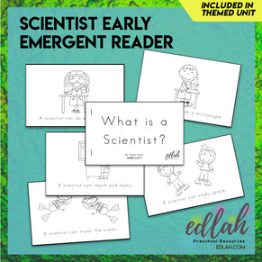 Types of Scientist Early Emergent Reader - Black & White Version
