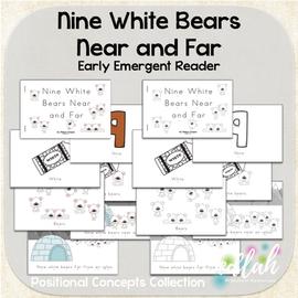 Nine White Bears Early Emergent Reader (Near & Far) - BUNDLE