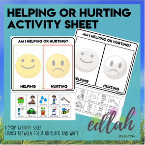 Helping or Hurting - Earth Day Sorting Activity