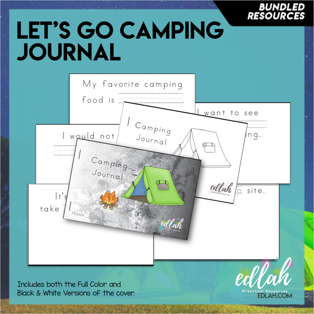 Camping Printable Journal (Full Color and Black and White Versions)