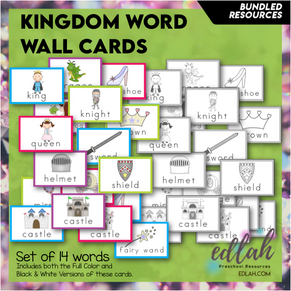 Fairy Tale Vocabulary Word Wall Cards (set of 14 Words) - BUNDLE-Version#1