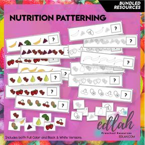 Nutrition/Food Patterning Cards BUNDLE