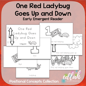 One Red Ladybug Early Emergent Reader (Up & Down) - Black & White Version