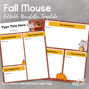 Fall Mouse Newsletter for WORD or PAGES_Generation 2