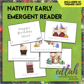 Christmas Nativity Early Emergent Reader - Full Color Version