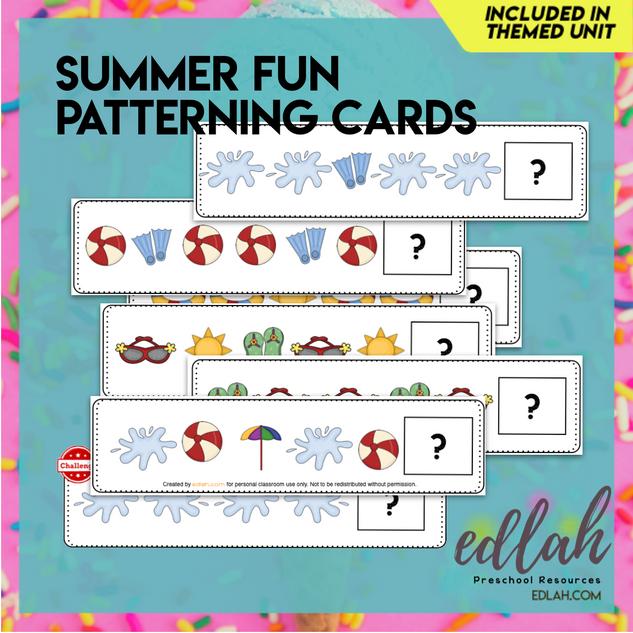Summer Fun Patterning Cards - Full Color Version