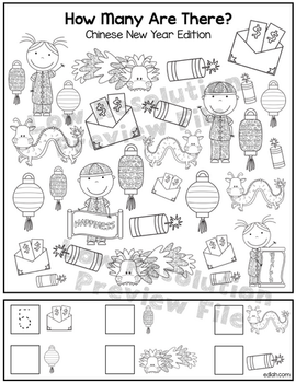"""Chinese New Year """"How Many Are There"""" Activity Sheet"""