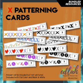 X Marks the Spot Patterning Cards - BUNDLE