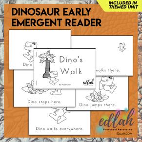 Dinosaur Early Emergent Reader - Black & White Version