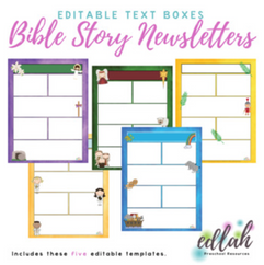 Church/Bible Story Newsletter Template Mini Pack (WORD USERS)_Generation 1