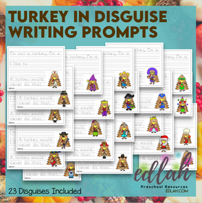 Turkey in Disguise - Primary Writing Lines