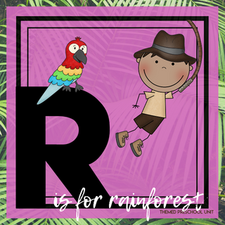 R is for Rainforest Themed Unit-Preschool Lesson Plans - Distance Learning
