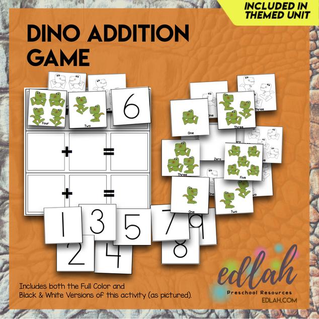 Dinosaur Addition Game