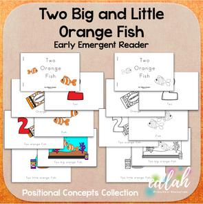 Two Orange Fish Early Emergent Reader (Big & Little) - BUNDLE