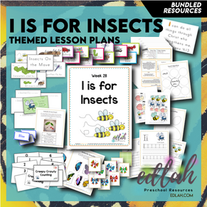 I is for Insects Themed Unit-Preschool Lesson Plans