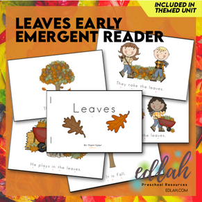 Leaves Early Emergent Reader - Full Color Version
