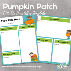 Pumpkin Patch Fall Newsletter for WORD or PAGES_Generation 2