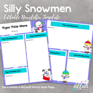 Silly Snowmen Newsletter for WORD or PAGES_Generation 2
