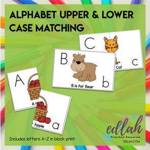 Alphabet Letter Case Matching for Pocket Charts