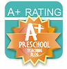 A+ rating preschool teachig blog
