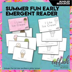 Summer Fun/Ice Cream Early Emergent Reader - BUNDLE