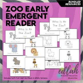 Zoo Early Emergent Reader - BUNDLE