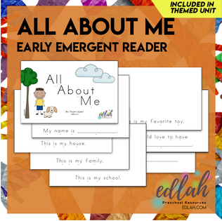 All About Me Early Emergent Reader - Full Color Version