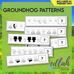 Groundhog Patterning Cards - Black & White Version