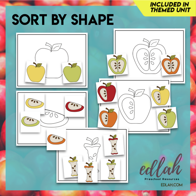 Apple Sorting Card Bundle